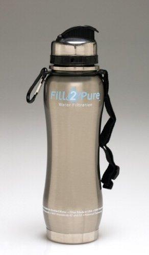 Seychelle 27oz Stainless Steel Water Filter Bottle (Silver)