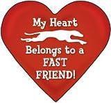 ハ?ト型マグネット『私の心は足の速い友達のもの』Fast Friend Heart