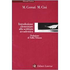 Cerruti e Cini, Introduzione elementare alla scrittura accademica