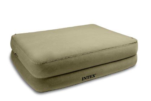 Intex 67956 ameublement et d coration lit gonflable 2 places larges electrique avec - Dessus de matelas confort ...
