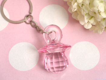 Pink Pacifier Keychain, 24