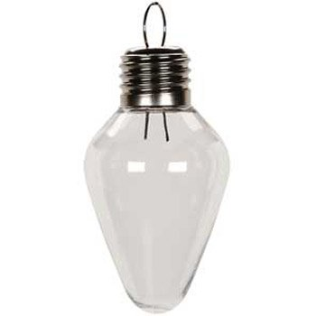 100 mm Shatterproof Clear Bulb Shaped Plastic Ornament X 75 Pieces 2610-64 (Plastic Fillable Light Bulbs compare prices)