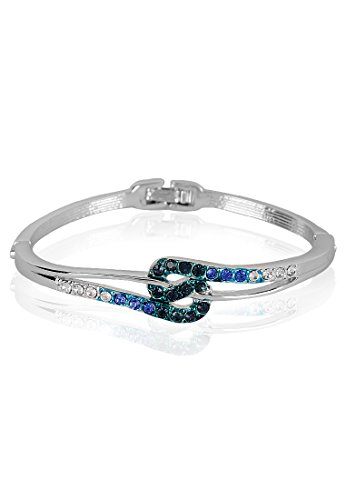 Estelle Estelle Silver Plated Bracelet With Blue Crystals For Women (Transperant)