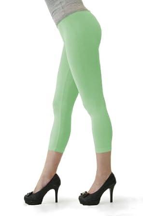 D&K Women's Seamless Capri Leggings Seafoam(Thin)