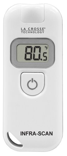 Image of La Crosse Technology 914-604 Wireless Infra-Red LCD Scanning Thermometer, White (914-604)