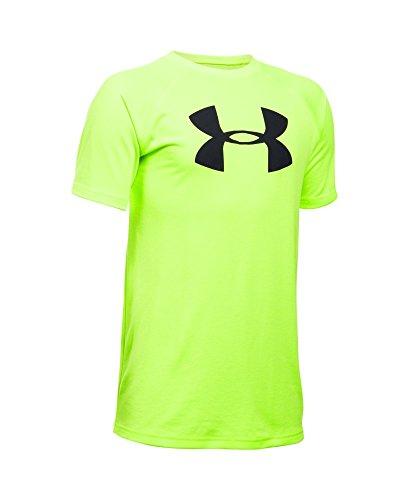 Under Armour Boys' Tech Big Logo T-Shirt, Fuel Green (363), Youth Small