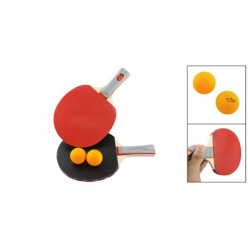 uxcell Recreational Ping Pong Paddle Table Tennis Racket Sidewards + Balls