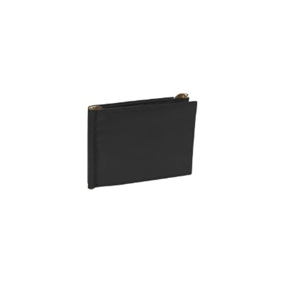 Royce Leather Mens Top Grain Nappa Leather Double Money Clip Wallet With Flip Open ID Window And Credit Card Holder One Size Black