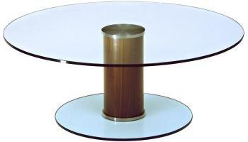 Sociale tavolino 800dia satinato/Multicolore