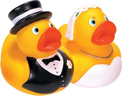 Schylling Bride & Groom Rubber Duck Set