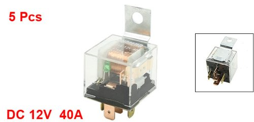 12Vdc 40 Amp 5P 1No 1Nc Spdt Indicator Auto Car Power Relay 5 Pcs