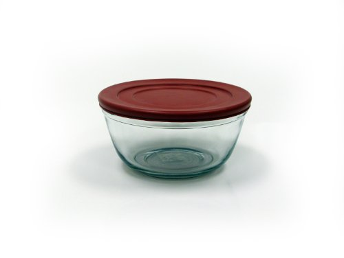 Anchor Hocking 4-Quart Cherry Mixing Bowl with Plastic Lid, Set of 2 (Anchor Hocking Mixing Bowl Set compare prices)