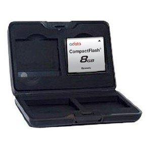 Adorama Digital Media Storage Aluminum Case for Four Compact Flash Cards