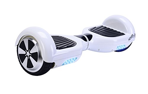 Hover X Self Balancing Hoverboard Balance Scooter with LED Lights, White