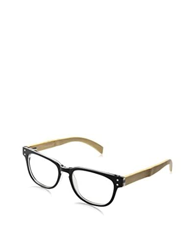 Ivory + Mason Men's A3199 Bluebird Eyewear, Black Crystal/Bamboo
