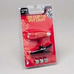 Clip-On Mini Led Spotlight W/3 Batteries
