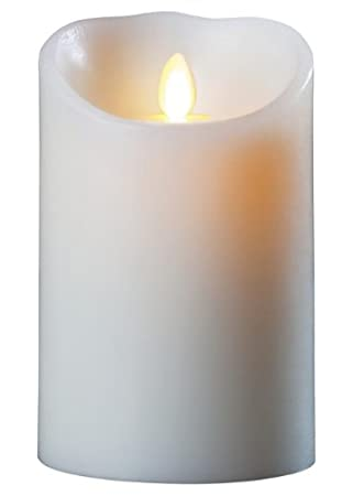 Luminara Wax Candle 3.5×7 Ivory – Pillars