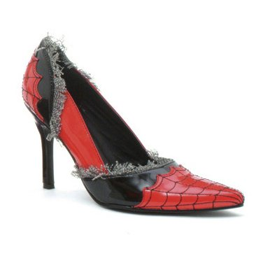 3.5 Inch Heel SPIDER WEB Pump Sexy Shoes Witch Theatre Costumes Accessory