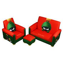 Warner Brothers Marvin the Martian Sofa Chair and Ottoman Set