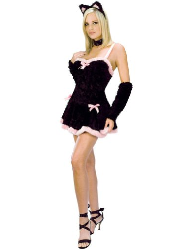 Kiss Me Kitty Adult Md/Lg Adult Womens Costume