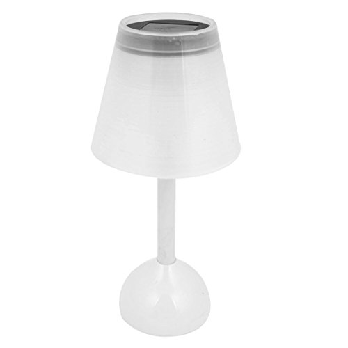 Bedroom Plastic Shell White 3 Leds Mini Desk Table Night Light Lamp