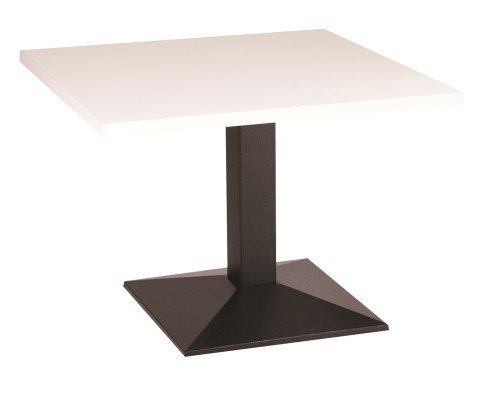 Quinn quadrata in ghisa, base da tavolo da caffè con varie dimensioni e finiture, metallo, White, 80 cm