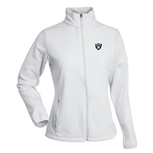 Oakland Raiders NFL Sleet Ladies Long Sleeve Jacket (White) by Antigua