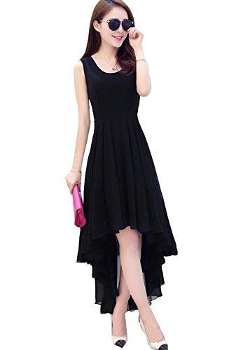 Roop Craft Women's Georgette Kurti (New Black Kurti_Free Size_Black)