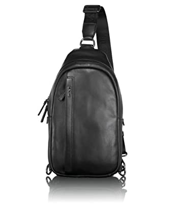 途米 Tumi Centro Murano Leather Sling男士真皮背包$169.99