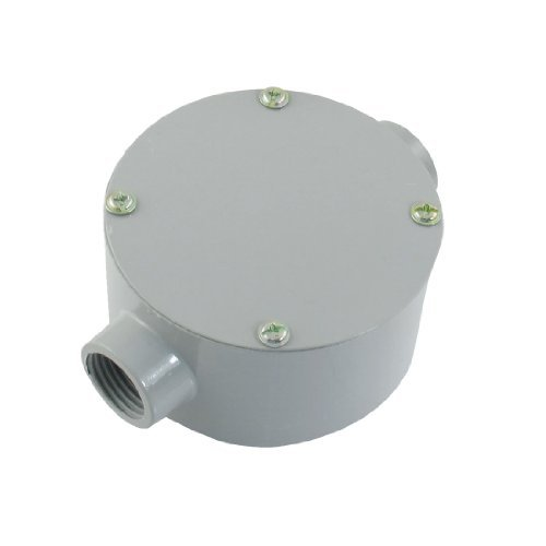 """Dimart G1/2"""" Dia. Two Straight Hole Connecting Metal Round Water-Proof Junction Box"""
