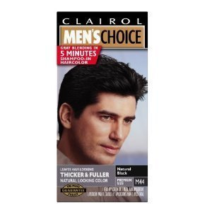 Clairol Mens Choice Shampoo-In Hair Colour Natural Black M44 front-961739