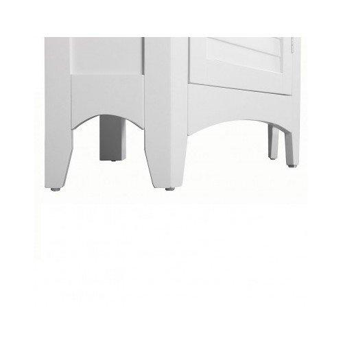 White Corner Floor Storage Cabinet with Shutter Door Bathroom Bedroom