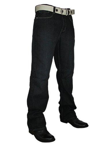 New Mens Black Ricci Straight Leg Regular Fit Belted Denim Jeans W32 L32