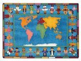 "Joy Carpets Kid Essentials Early Childhood Hands Around The World Rug, Multicolored, 7'8"" x 10'9"""