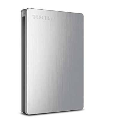 Toshiba Canvio Slim II Portable External Hard Drive (HDTD210XS3E1)