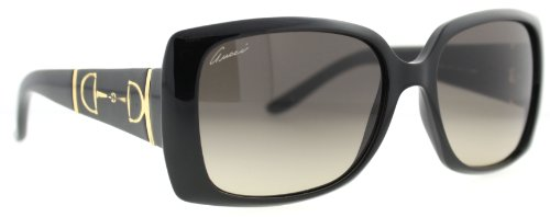 Gucci Gucci GG3537/S Sunglasses-05E6 Shiny Black (RA Gray Polarized Lens)-56mm