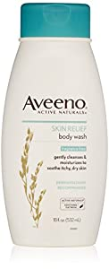 Aveeno Active Naturals Fragrance Free Skin Relief Body Wash, Soothing Oatmeal, 18 Ounce
