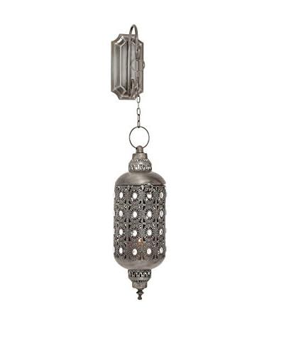 Metal Hanging Lantern, Silver