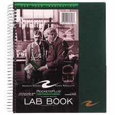 ROA77646 Lab Book, Tri Pocket Cover, Wirebound, 8-1/2