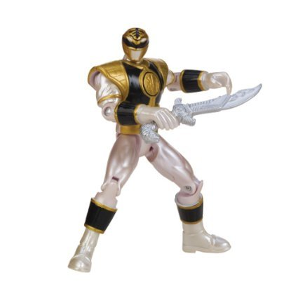 Power Rangers Metallic Force Mighty Morphin White Ranger Action Figure - 1