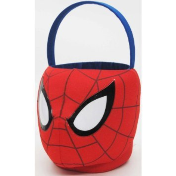 Small Plush Spiderman Basket for Halloween or Easter (Spiderman Easter Basket compare prices)