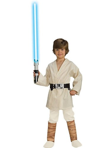 Boys Deluxe Luke Skywalker Costume Bundle With Accessories ( SIZE S )