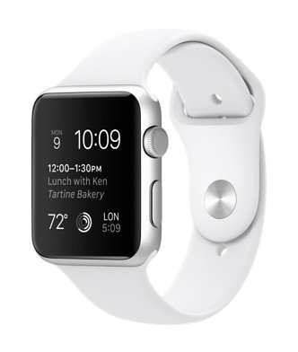 Apple Watch Sports 42mm Silver Aluminum Case (White)