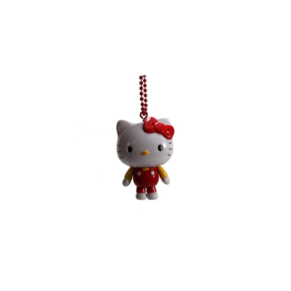 Official Sanrio Hello Kitty Figure Keychain Strap / Cell Phone Charm   Red Outfit