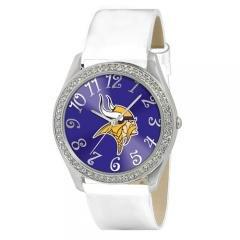 Ladies Minnesota Vikings NFL Glitz Silver Watch Sports Fashion Jewelry by NFL