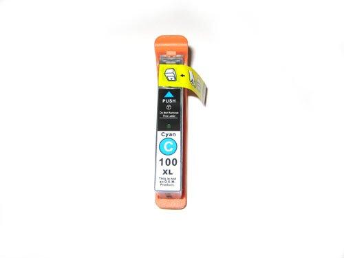 1x kompatible Druckerpatrone Lexmark 100 in Cyan für Drucker Lexmark Pinnacle Pro 901 Hohe Kapazität