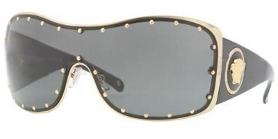 Versace VE2129B Sunglasses - 1002/87 Gold (Gray