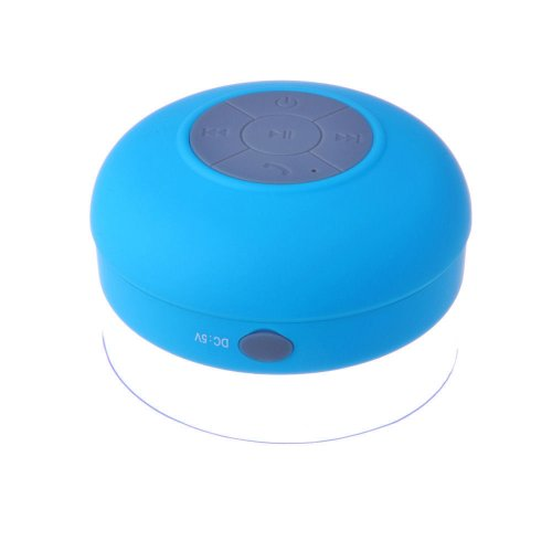 Newisland Portable Waterproof Bluetooth V3.0 + Edr Shower Speaker Handsfree Speakerphone With Suction Cup (Blue)