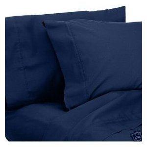 Amazon.com - Wrinkle-Free solid Navy Twin size Microfiber sheet