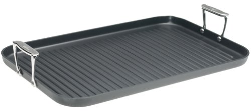 All-Clad 3013 Hard Anodized Aluminum Nonstick Double Burner Grande Grille Pan Specialty Cookware, 13 by 20-Inch, Black